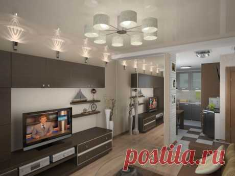 Дизайн однокомнатной квартиры - 175 фото в интерьере