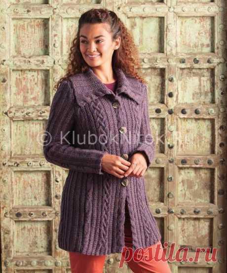 Сиреневый кардиган | Вязание для женщин | Вязание спицами и крючком. Схемы вязания.