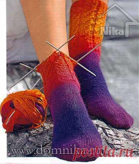 Как связать носки спицами от мыска » Вязание крючком и спицами схемы и модели