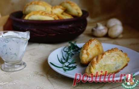 Кибинай с курицей и грибами Кулинарный рецепт