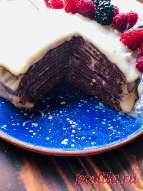 Инструкция по приготовлению торта из тонких шоколадных блинчиков . Милая Я