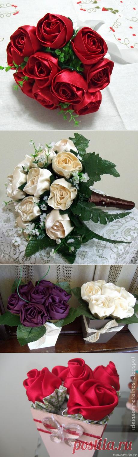 Розы из ткани. Идеи и мастер-класс