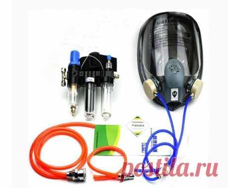 Система для защиты органов дыхания с полнолицевой газовой маской и краскопультом. Подойдет для многих задач.