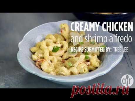 How to Make Creamy Chicken & Shrimp Alfredo   Dinner Recipes   Allrecipes.com