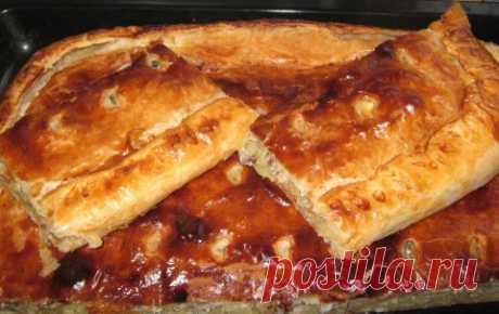 Пирог со скумбрией, картофелем и луком. | Четыре вкуса