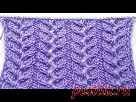 Шикарный узор Ажурные колоски для вязания спицами