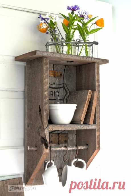 A reclaimed wood branch shelf that's really... anything!Funky Junk Interiors