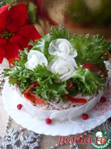 """Мясной салат """"Фаворит"""" на новогодний стол – кулинарный рецепт"""
