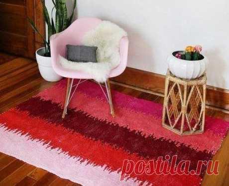 Плетём коврик: мастер-класс