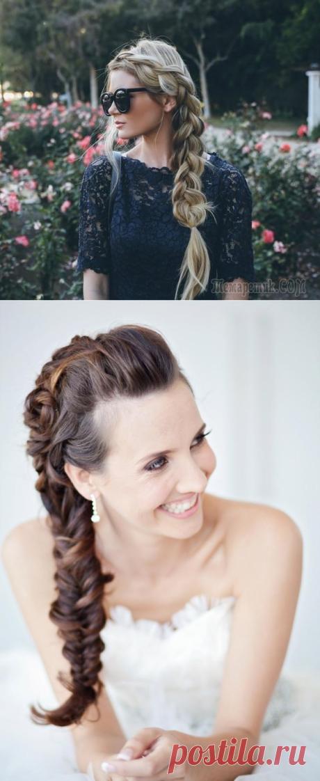 Элегантная прическа коса на бок — Разнообразие вариантов