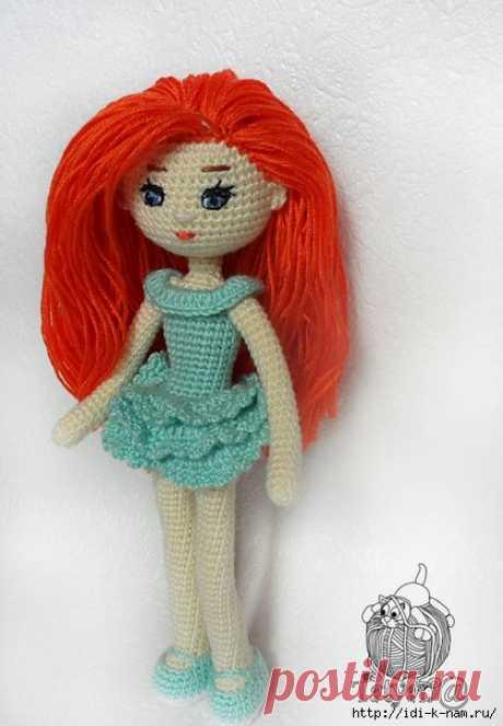 вязаная кукла Адель