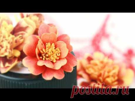 Бархатцы из фоамирана как настоящие 😍 Цветы своими руками / foamiran marigolds DIY