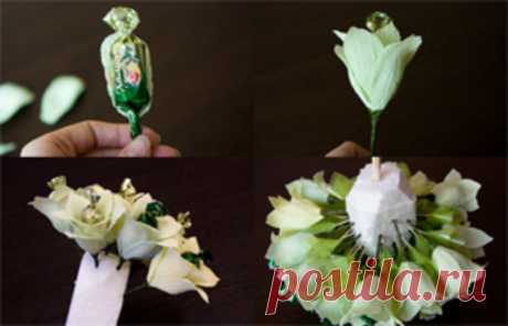 Step-by-step master classes on production of bouquets from candies — Automee-s.ru