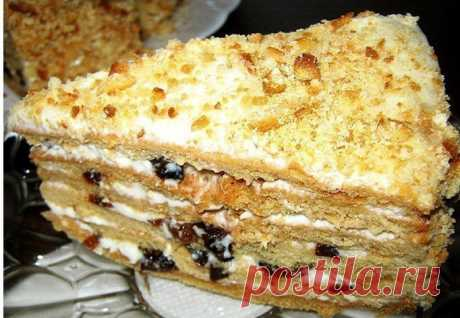 Бесподобный медовый торт с черносливом Идеальный десерт для семейного чаепития!