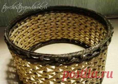 Плетеная корзинка из джута. Мастер-класс 1 часть.