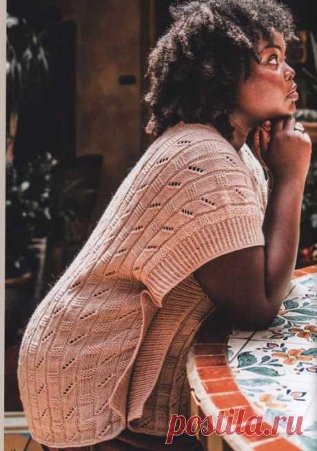 Статья с идеальными вязаными жилетами - готова. Ещё порадует мастер-класс нового узора спицами. | Asha. Вязание и дизайн.🌶 | Яндекс Дзен