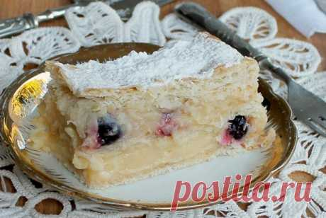 Торт из слоеного теста с вишней рецепт – выпечка и десерты. «Еда»
