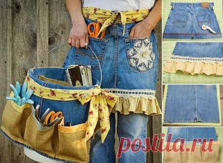 Что можно сделать из старых джинсов если вам их жалко выкидывать? - Домашние Советы