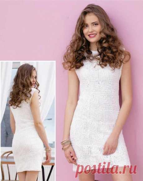 . Маленькое белое платье крючком - Вязание - Страна Мам