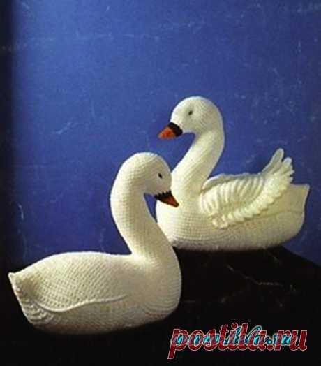 Лебеди, связанные крючком СХЕМЫ