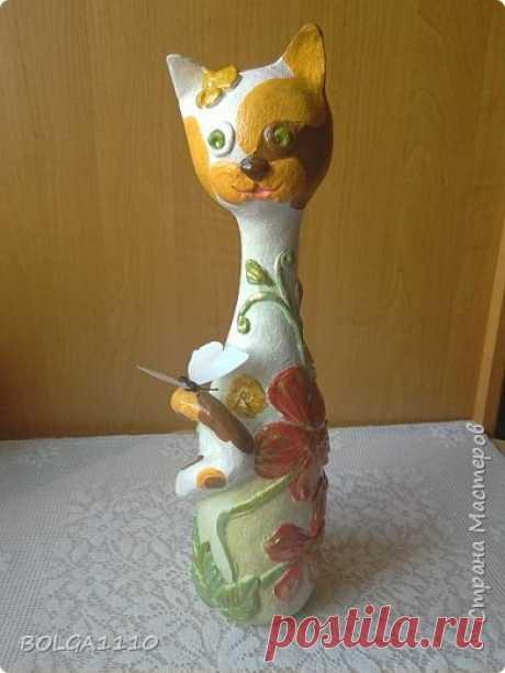 Кошка на бутылке | Страна Мастеров