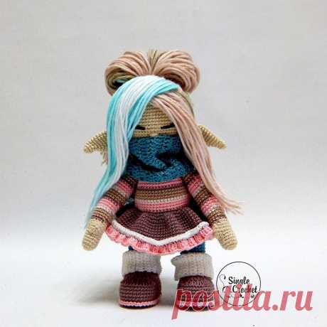 Вязаная кукла Гномушка крючком | Схемы амигуруми
