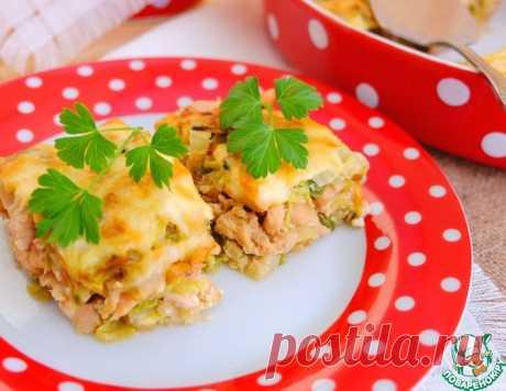 Капустная запеканка с пряным куриным филе – кулинарный рецепт