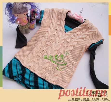 Вязание девочкам жилеты спицами | Записи в рубрике Вязание девочкам жилеты спицами | Дневник ANNA