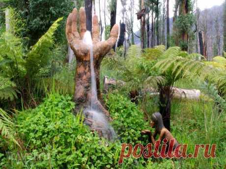 """Сказочный сад скульптур Бруно Торфса (Bruno Torfs).Австралия. Мир чудес, наполненный сказочным духом, фантазией и юмором, где за каждым зигзагом лесной тропы поджидает прекрасное чудо искусства, созданное руками человека, находится в городке Мэрисвилль, что в 100 километрах от Мельбурна в Австралии. Этот мир полный таинства и волшебства получил название – сад Бруно Торфса, скульптора из Южной Америки, который и является """"главным волшебником"""""""
