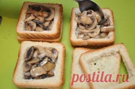 Превосходные хрустящие бутерброды на скорую руку. Отличная идея для завтрака!