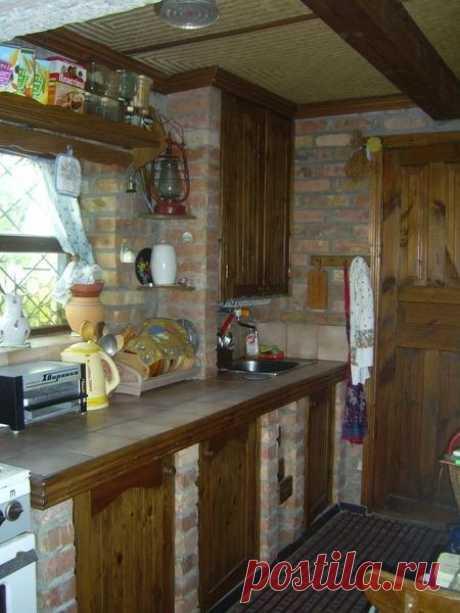 Дачная кухня - оригинальная идея дизайна