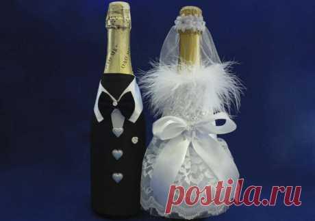 бутылки шампанского для свадьбы своими руками: 6 тыс изображений найдено в Яндекс.Картинках
