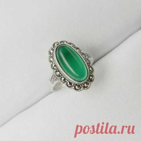 Серебряное кольцо с Агатом (натур.)