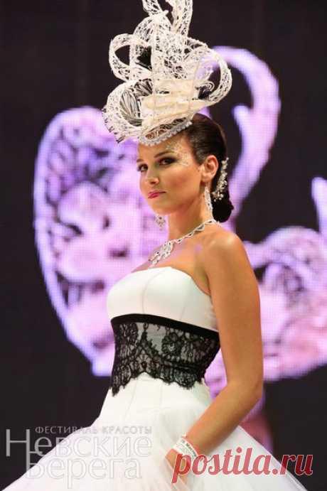 Свадебная шляпка от кутюр(постижерное изделие) дизайнер и стилист Анна Ефимова