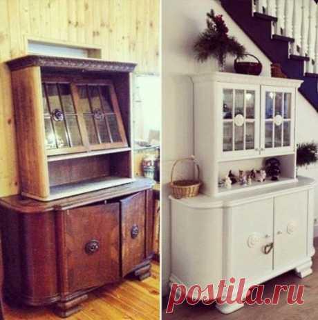Ещё несколько примеров переделки старой мебели / Как сэкономить