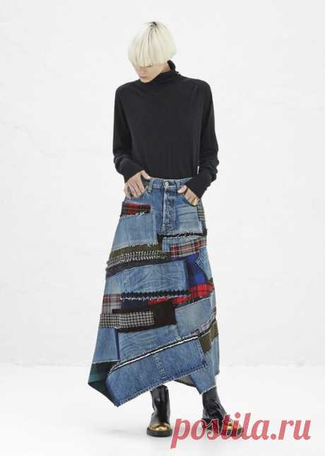 Джинсы Patchwork, супер тренд - превратите свои старые джинсы в супер фанки + 30 фотографий и шаг за шагом - Fashion Bubbles - Fashion and the new in Culture
