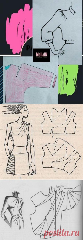 Моделирование цельнокроенного рукава с подрезом и драпировкой — DIYIdeas