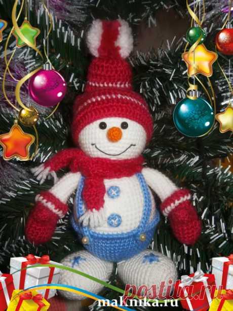 Вязаный снеговик