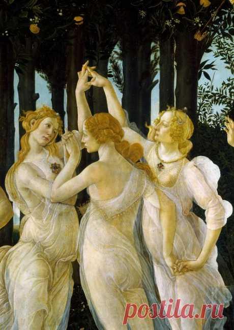Сандро Боттичелли – Весна (фрагмент - Три грации)
