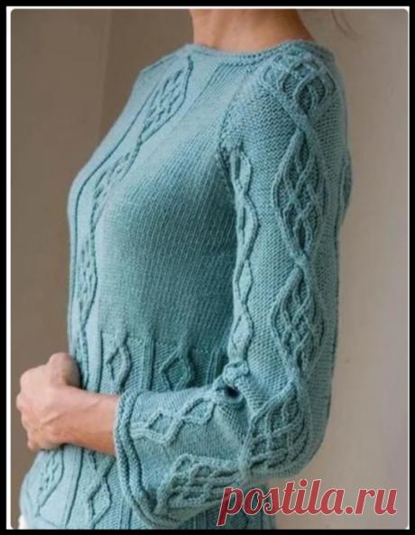 5 красивых пуловеров, связанных спицами (схемы и выкройки)   Рукоделие