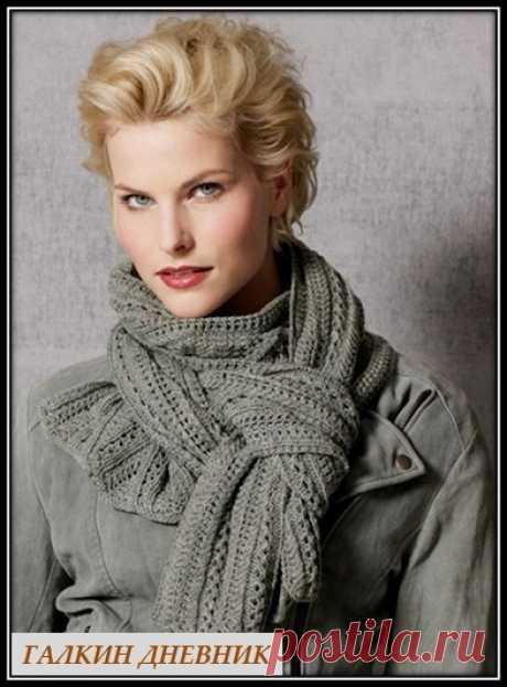 ГАЛКИН ДНЕВНИК - схемы вязания: Схемы узоров для вязания ажурного шарфа