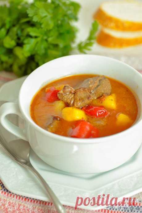 Венгерский суп-гуляш - пошаговый рецепт с фото на Готовим дома
