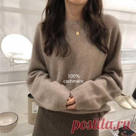 Женский толстый кашемировый свитер, свободный короткий базовый свитер с круглым вырезом и рукавом реглан на осень и зиму|Водолазки| Детские жаккарды| роспись по ткани | готовые выкройки |