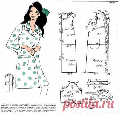 Халаты, выкройки на размер 54 (рос.). #простыевыкройки #простыевещи #шитье #халат #выкройка