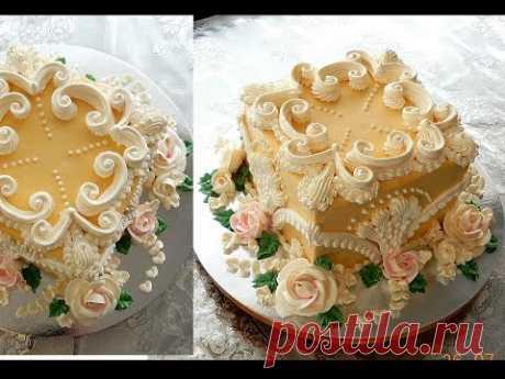 """УКРАШЕНИЕ ТОРТОВ , торт """"ДЖОЗЕЛИН"""" от SWEET BEAUTY СЛАДКАЯ КРАСОТА, CAKE DECORATION"""