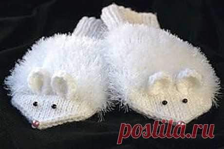 Вяжем варежки на любой возраст. Варежки-мышки - Варежки и перчатки - Схемы вязания - Авторский проект Натальи Грухиной