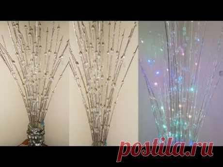 Wow keren bunga sudut ruangan dari sapu lidi    home decoration ideas