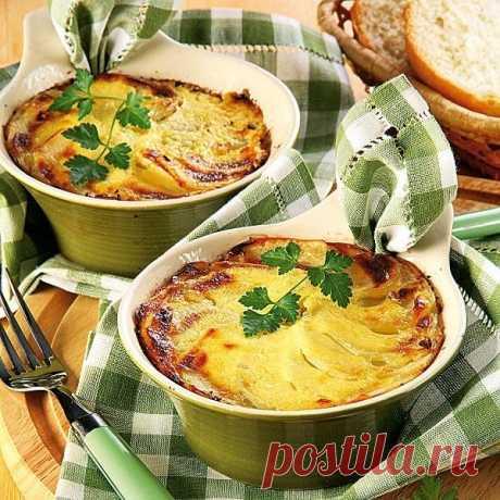 «Волшебные» горшочки с лучком и картошечкой — Фактор Вкуса