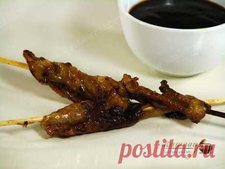 Шашлычки из куриной кожи рецепт с фото | Кашевар