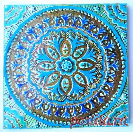 голубая плитка, голубая восточная плитка, голубая марокканская плитка плитка керамическая ручной работы